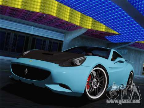 Ferrari California para GTA San Andreas left