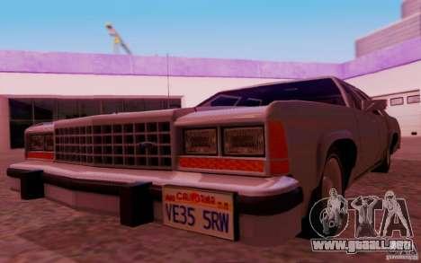 Ford Crown  Victoria LTD 1985 para visión interna GTA San Andreas