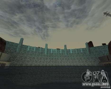 La nueva estructura de la presa para GTA San Andreas sucesivamente de pantalla