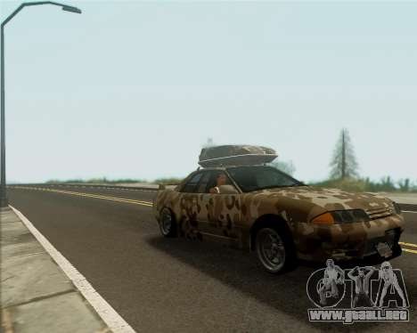 Nissan Skyline R33 Army para GTA San Andreas vista posterior izquierda