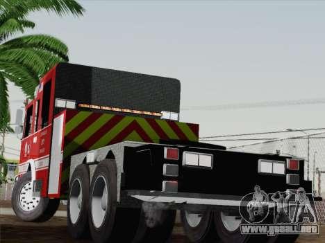Pierce Arrow XT LAFD Tiller Ladder Truck 10 para GTA San Andreas vista posterior izquierda