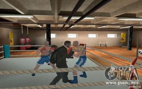 The combat system from GTA IV para GTA San Andreas sucesivamente de pantalla