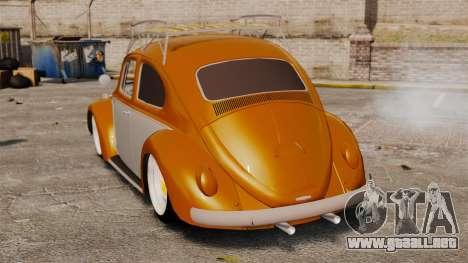Volkswagen Fusca Edit para GTA 4 Vista posterior izquierda