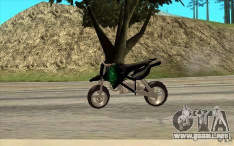 Black Rockstar Moto Cross para GTA San Andreas vista posterior izquierda
