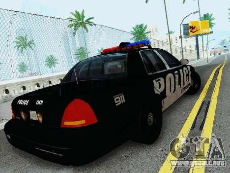 Ford Crown Victoria Police Interceptor 2011 para la visión correcta GTA San Andreas