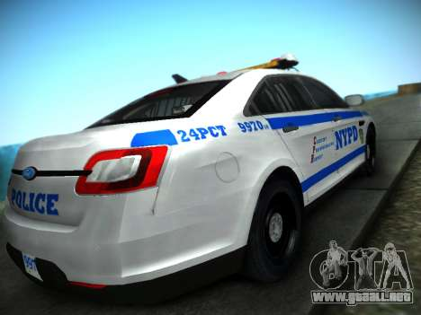 Ford Taurus NYPD 2011 para GTA San Andreas left