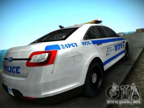 Ford Taurus NYPD 2011 para GTA San Andreas left