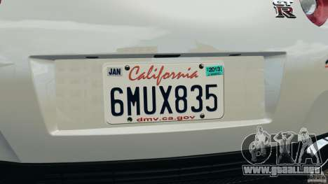 Nissan GT-R 2012 Black Edition para GTA 4