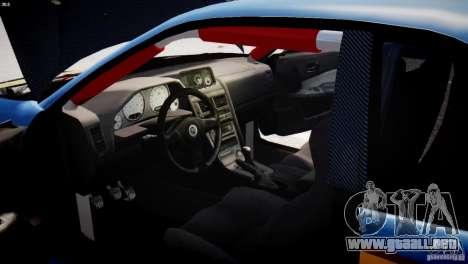 Nissan BNR-34 GT-R para GTA 4 vista hacia atrás