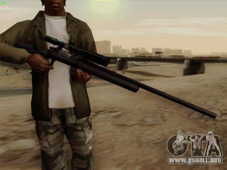 Remington 700 para GTA San Andreas segunda pantalla