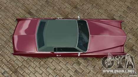 Cadillac Eldorado 1968 para GTA 4 visión correcta