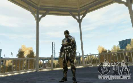 Crysis 3 The Hunter skin para GTA 4 adelante de pantalla