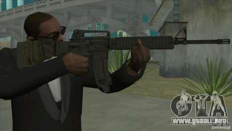M16A4 from BF3 para GTA San Andreas segunda pantalla