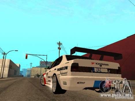 BMW E34 M5 - DTM para GTA San Andreas vista posterior izquierda