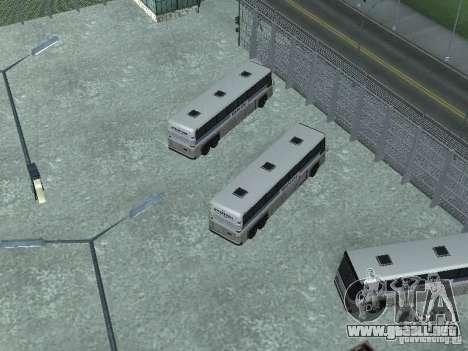 Bus Parque versión v1.2 para GTA San Andreas quinta pantalla