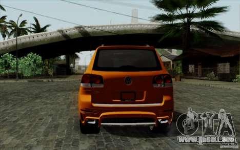 Volkswagen Touareg R50 Light para la visión correcta GTA San Andreas