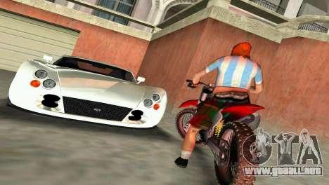 TVR Cerbera Speed 12 para GTA Vice City vista posterior