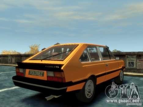 FSO Polonez 2.0X Coupe para GTA 4 Vista posterior izquierda
