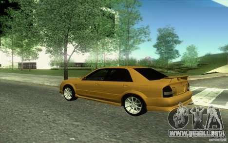 Mazda Speed Familia 2001 V1.0 para visión interna GTA San Andreas