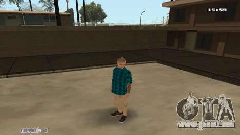 Construir las pieles Rifa para GTA San Andreas tercera pantalla
