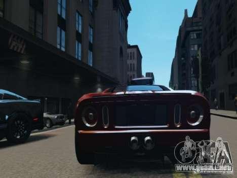 Ford GT para GTA 4 Vista posterior izquierda