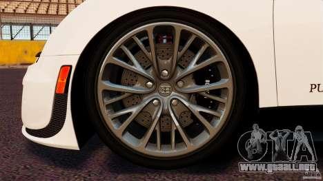 Bugatti Veyron 16.4 Super Sport 2011 [EPM] para GTA 4 vista lateral
