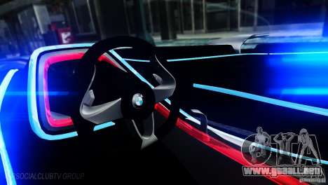 BMW Vision ConnectedDrive Concept 2011 para GTA 4 left