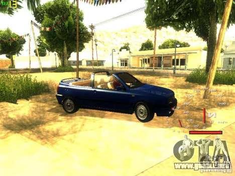 Volkswagen Golf MK3 Cabrio 1993 para visión interna GTA San Andreas