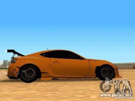 Toyota FT86 Rocket Bunny V2 para GTA San Andreas vista hacia atrás