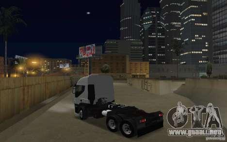 Iveco Stralis Double Trailers para GTA San Andreas vista posterior izquierda