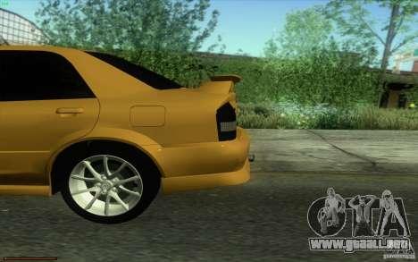 Mazda Speed Familia 2001 V1.0 para GTA San Andreas vista hacia atrás