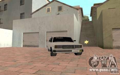 VAZ 2104 para GTA San Andreas vista posterior izquierda