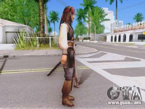 Jack Sparrow para GTA San Andreas segunda pantalla
