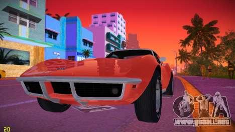 Chevrolet Corvette (C3) Stingray T-Top 1969 para GTA Vice City left