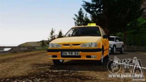 Taxi Renault 19 para GTA 4 vista hacia atrás