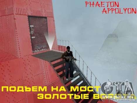 Subir el puente Golden Gate para GTA San Andreas