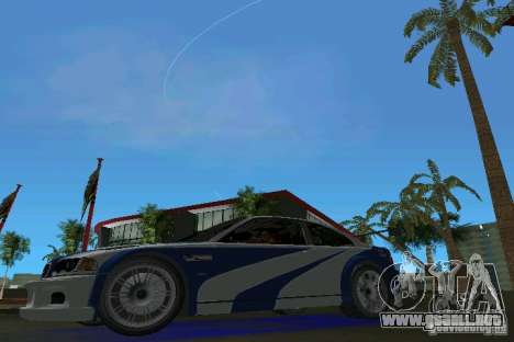 BMW M3 GTR NFSMW para GTA Vice City left