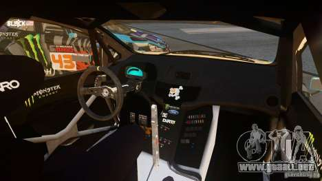 Ford Fiesta Gymkhana - Ken Block (Hoonigan) 2013 para GTA 4 left