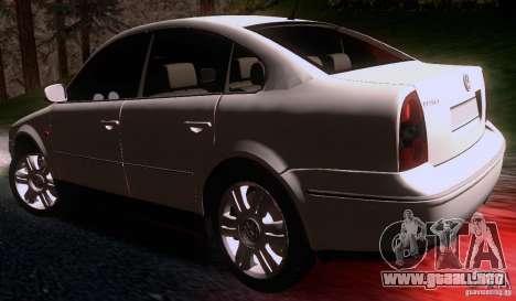 Volkswagen Passat B5+ para GTA San Andreas vista posterior izquierda