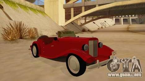 MG Augest para GTA San Andreas vista hacia atrás