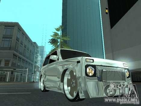VAZ 2121 Final para GTA San Andreas vista posterior izquierda
