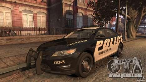 Ford Taurus Police Interceptor 2010 ELS para GTA 4