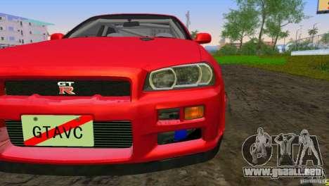 Nissan Skyline GTR R34 para GTA Vice City left
