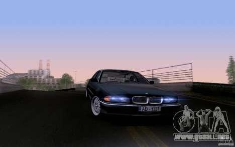 BMW 730i E38 para vista inferior GTA San Andreas