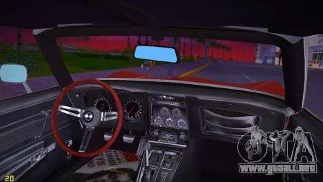 Chevrolet Corvette (C3) Stingray T-Top 1969 para GTA Vice City visión correcta