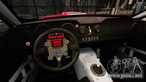 Ford Mustang GTR para GTA 4 vista hacia atrás
