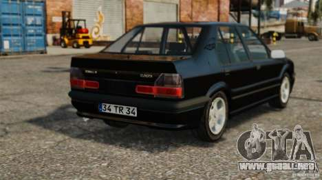 Renault 19 RL para GTA 4 Vista posterior izquierda