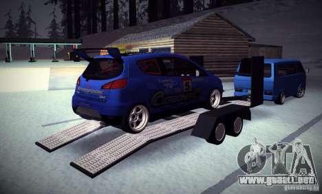 Mitsubishi Colt Rallyart Carbon 2010 para la vista superior GTA San Andreas