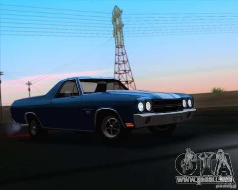 Chevrolet EL Camino SS 70 para la vista superior GTA San Andreas