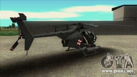 El helicóptero del mal residente para GTA San Andreas left